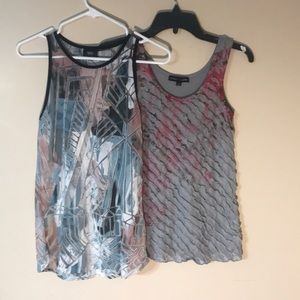 Bundle of 2 Small Women's tank tops gray & pink